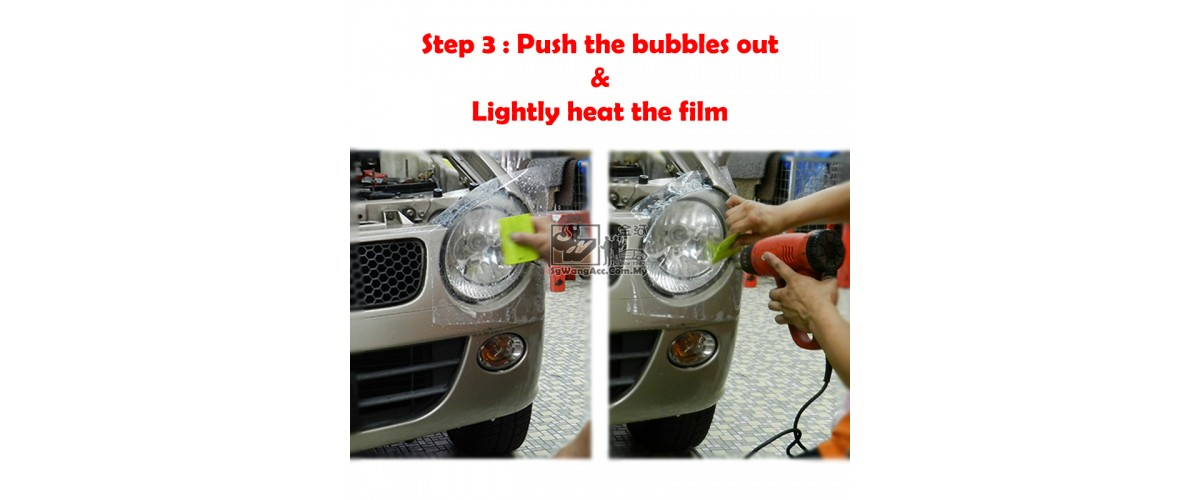 3. Push the shampoo & bubbles out by using squeegee & hard card
