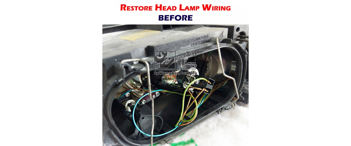 Restoring head-lamp damaged wire insulation by using heat ... on