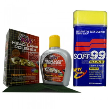 Car Polish Soft 99 & Headlamp Polish KW