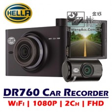 Hella DR760 Driving Recorder WiFi FHD 2-Channel