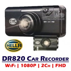 Hella DR820 Driving Recorder WiFi FHD 2-Channel