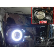 LED Angel Eyes Projector Fog Spot Lamp