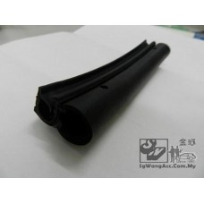 Vehicle door guard protector (black & rubber)