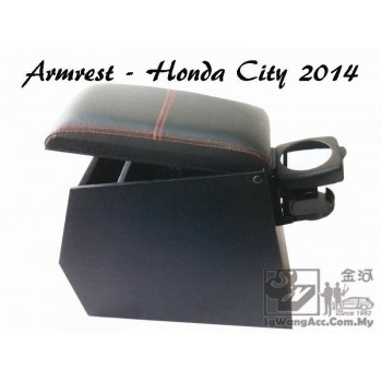 Honda City (Year 2014) Armrest with Drink Holder (Black)