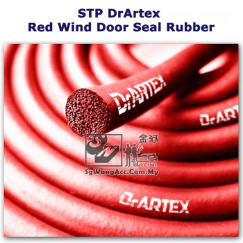 STP DrArtex Red Wind Car Door Seal Rubber (20 meter)