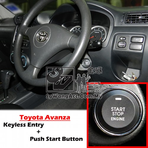 WTS]Keyless Entry + Push Start Car Alarm Security