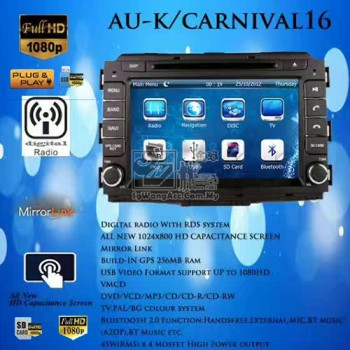 Kia Carnival 2016/2017 OEM Multimedia Car Head Unit Player