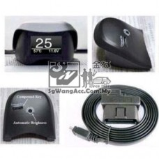 OBD car display voltage temperature smart device