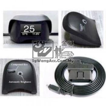 OBD car display voltage temperature smart device