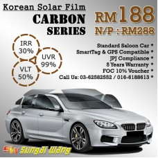 Sahara-X 2Ply IRR30% UVR99% Solar Tinted Film Promo - Carbon Package