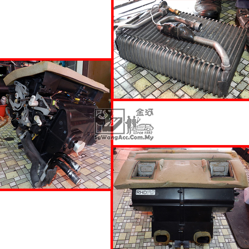 Full Air Cond Service & Replacing Cooling Coil (2 Sets) on Land Rover Discovery TD5