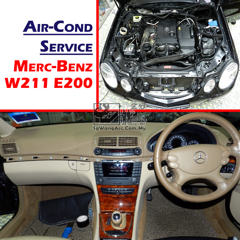 Mercedes-Benz W211 E200 Full Air Cond Service