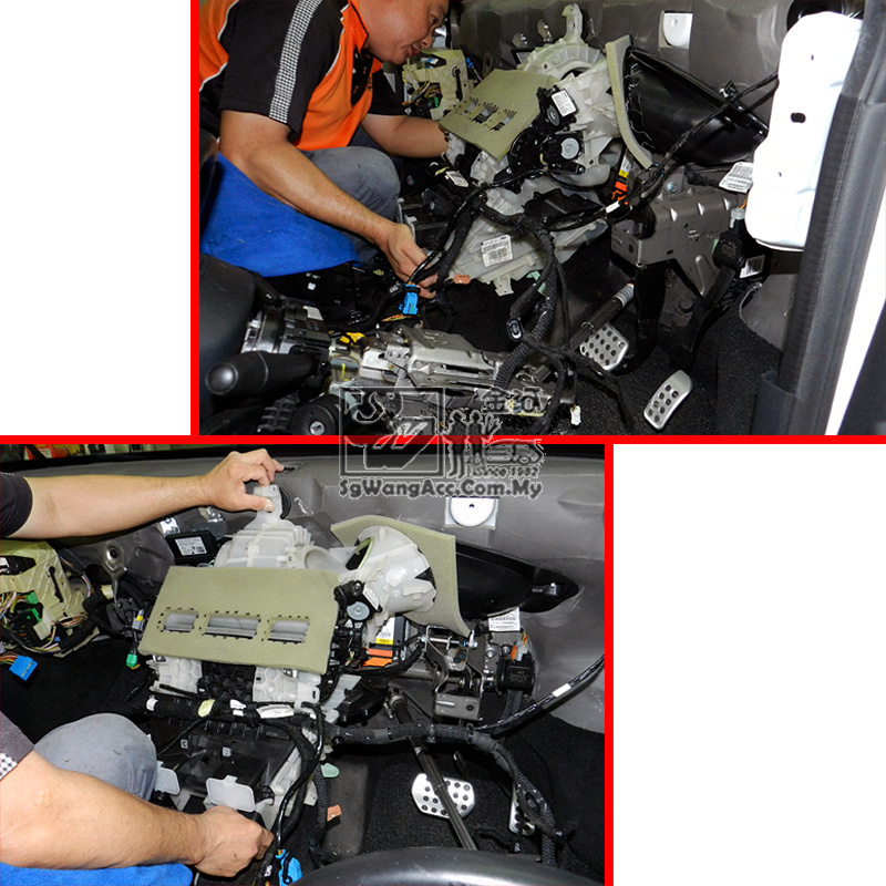 Full Air Cond Service & Replacing Cooling Coil @ Peugeot RCZ
