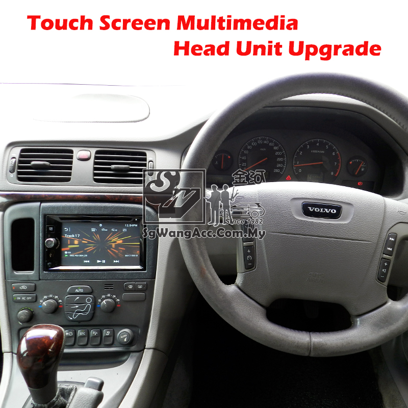 Installation Sony Multimedia Head Unit at Volvo S80