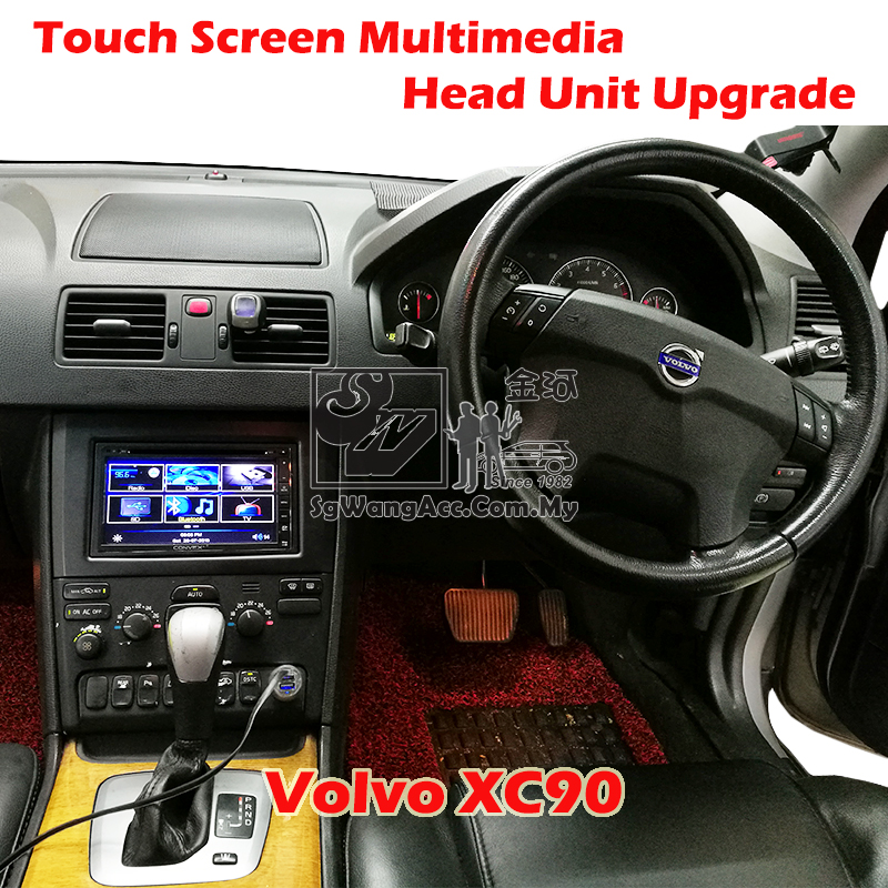 Installation Touch Screen Multimedia Head Unit at Volvo XC90