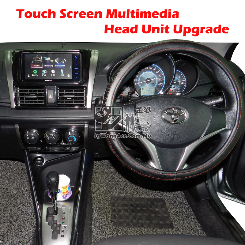 Installation Kenwood Multimedia Head Unit at Toyota Vios 2015