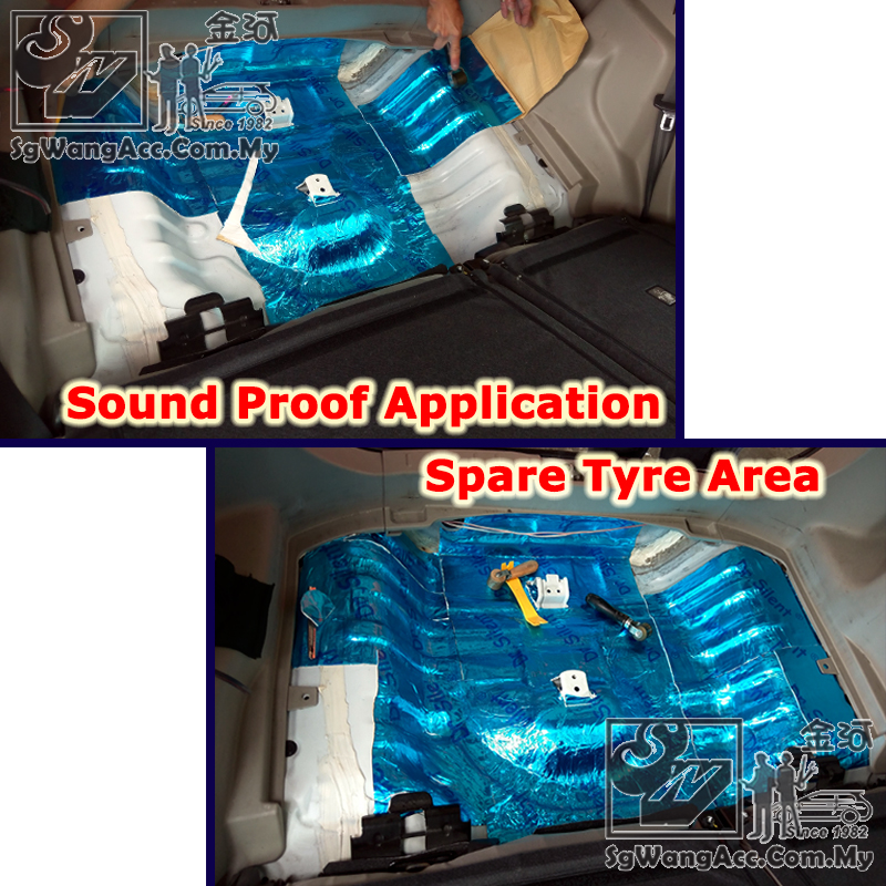 Apply Sound Proof on Car Firewall & Spare Tyre Area