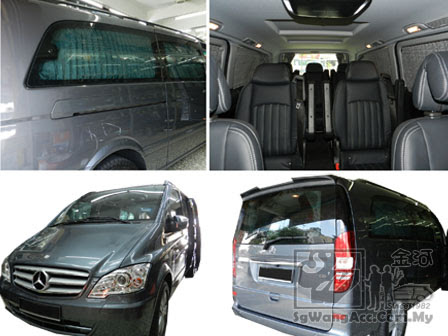 Luxury OEM Premium Curtain Installation on Mercedes Benz Vito