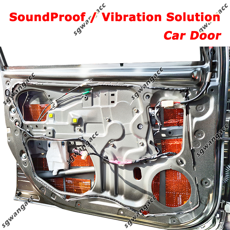 Sound Proof & Vibration Solution on Door & Dashboard