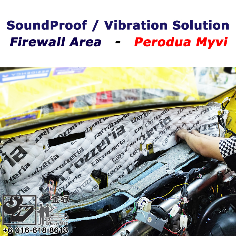 Sound Proof & Vibration Solution on Firewall Area