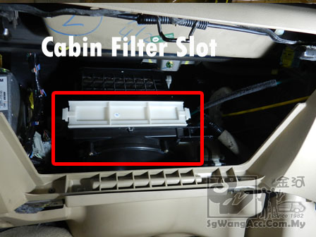 Gentil Cut Away The Cover Of The Cabin Filter Slot