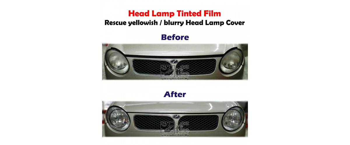 This is how to rescue aged head lamp cover