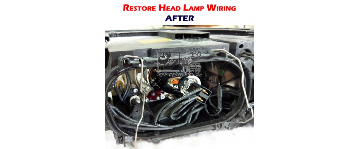 After restoration process, all wires is wrapped by heat shrinkable tube tightly.