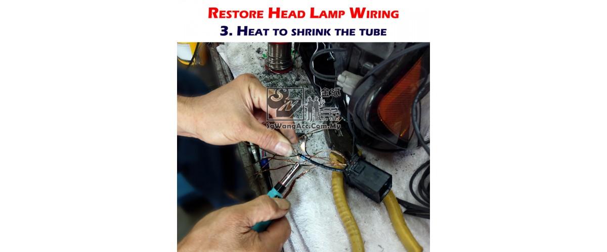 Restoration Step 3: Shrink the tube by applying heat on it.