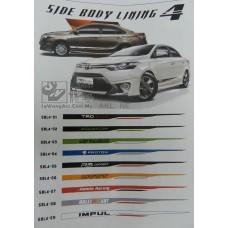 Car Body Side Lining Sticker