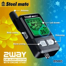 Steelmate 898G 2 Way Car Alarm w/ Remote Engine Auto Start