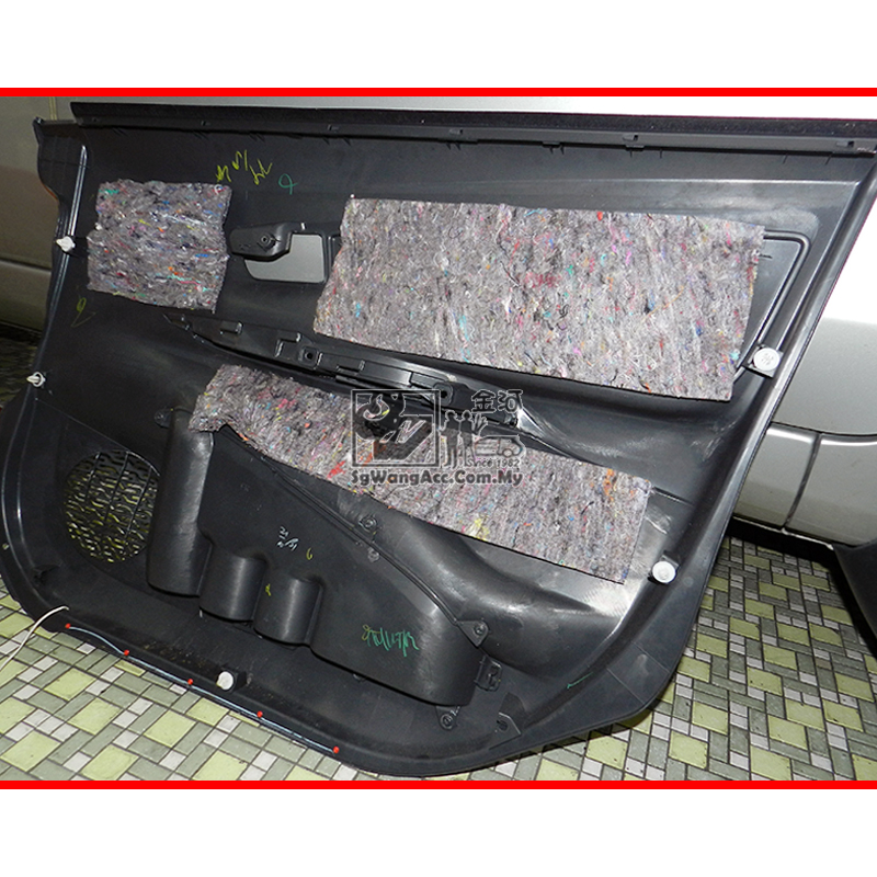 Apply Sound Proof on Car Door Panel